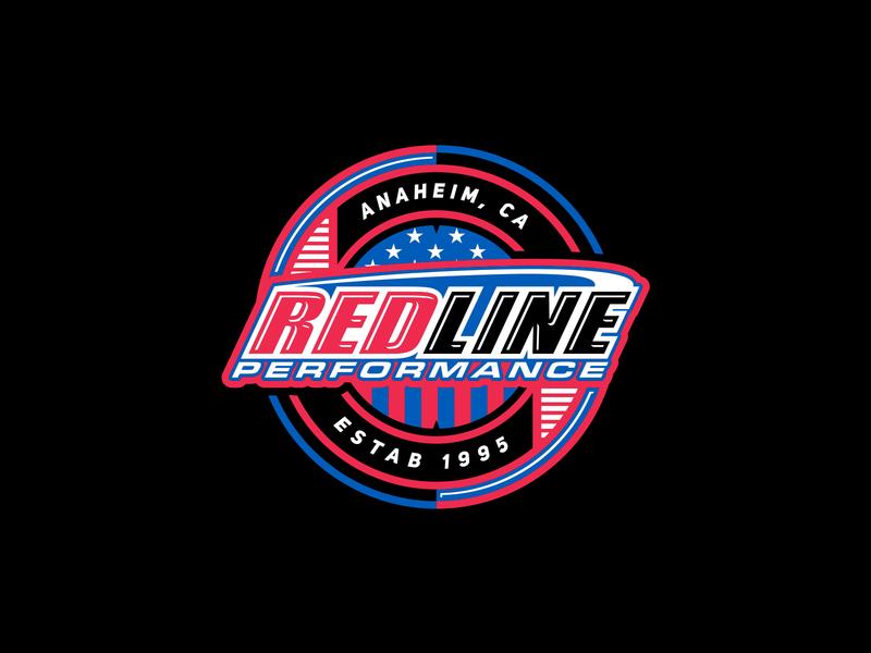 RedLine Performance graphics redlineperformance graphicdesign design vector illustration identity lettering badge type icon logo