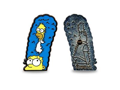 D'Oh Sorry Marge Lapel Pin marge homer memes meme illustration logo lapelpins lapel pin pin simpsons