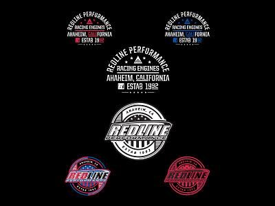 RedLine Performance vector illustration identity lettering badge branding type icon logo