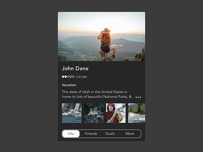 Android Card ux mobile design flat minimal concept ui app