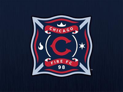 Chicago Fire FC - Logo Concept soccer cffc chicago fire chicago mls soccer mls 1998 fire branding futbol