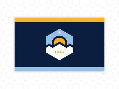 SALT LAKE CITY - 2020 FLAG REDESIGN #2 2020 design flag utah salt lake city