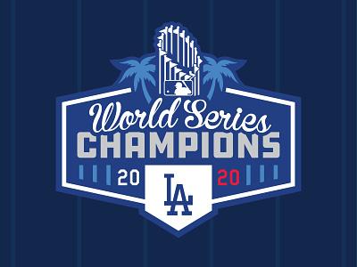 LOS ANGELES DODGERS - 2020 WORLD SERIES CHAMPIONS Logo Concept