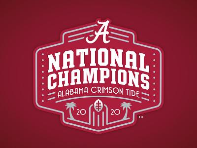ALABAMA CRIMSON TIDE - 2020 NATIONAL CHAMPIONS - Logo Concept branding matt harvey 2021 2020 college football ncaa football cfp crimson tide alabama