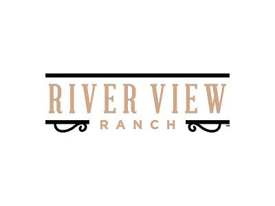RIVER VIEW RANCH - OFFICIAL LOGO landscape wedding utah ogden events ranch