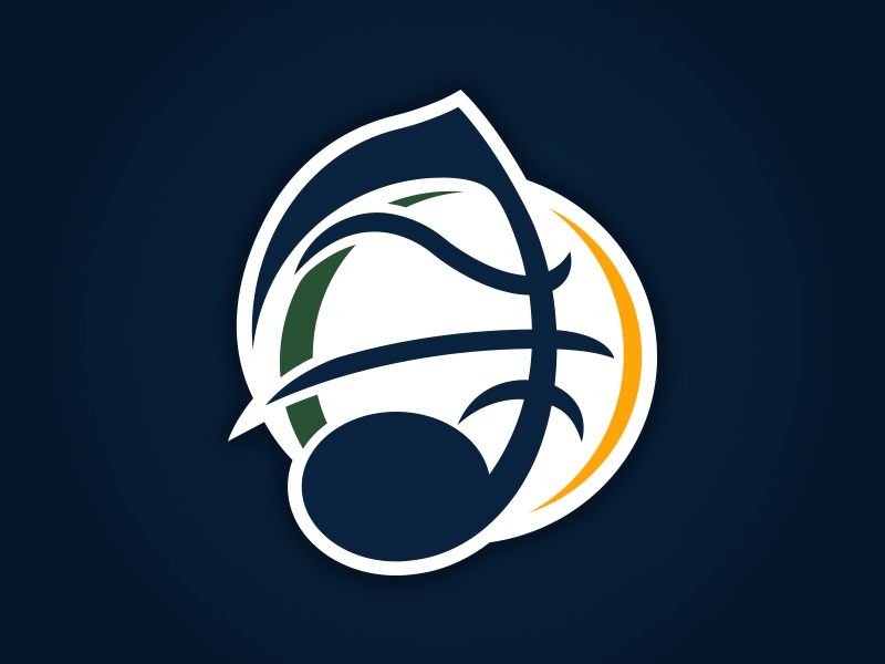 UTAH JAZZ - NEW LOGO CONCEPT mwhstudios matt harvey branding sports concepts design basketball logos jazz nation utah jazz nba