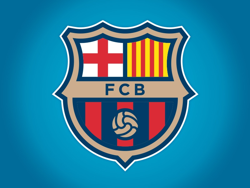 fc barcelona logo concept by matthew harvey dribbble dribbble