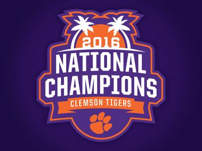 CLEMSON TIGERS - 2016 NATIONAL CHAMPS LOGO Concept