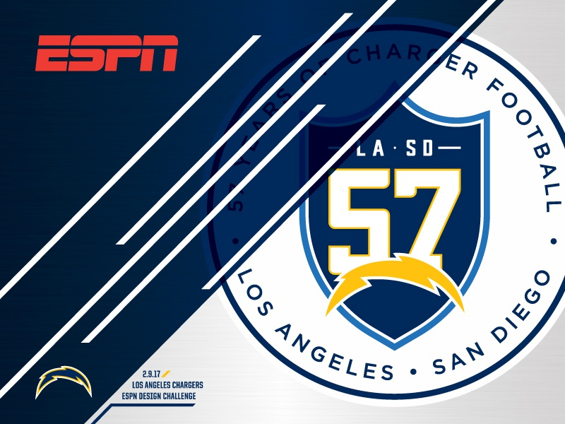 ESPN - LOS ANGELES CHARGERS - DESIGN CHALLENGE mwhstudios los angeles san diego chargers nfl football design concepts espn sports branding matt harvey