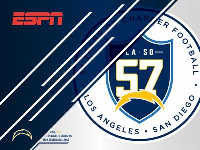 ESPN - LOS ANGELES CHARGERS - DESIGN CHALLENGE