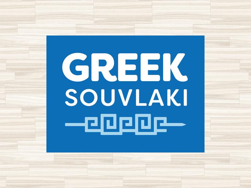 GREEK SOUVLAKI slc greek restaurant food logos branding matt harvey