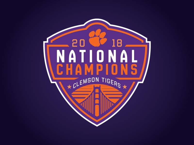 Concept - 2018 TIGERS Logo CLEMSON by CHAMPS NATIONAL -