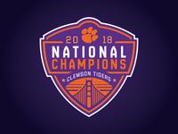 CLEMSON TIGERS - 2018 NATIONAL CHAMPS - Logo Concept