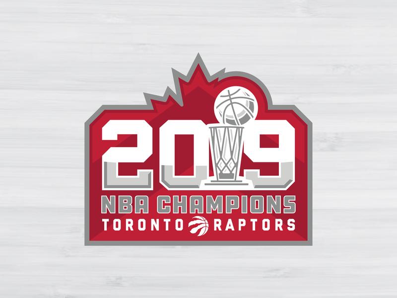 2019 NBA CHAMPIONS - TORONTO RAPTORS nba branding logo concepts champions toronto raptors toronto nba finals 2019