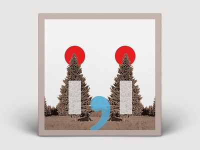 "BON IVER - "" i , i "" ALBUM COVER DESIGN"