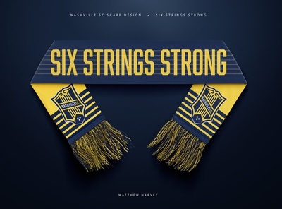 "NASHVILLE SC ""SIX STRINGS STRONG"" SCARF Concept"