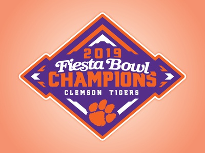 CLEMSON TIGERS - 2019 FIESTA BOWL CHAMPIONS - Logo Concept