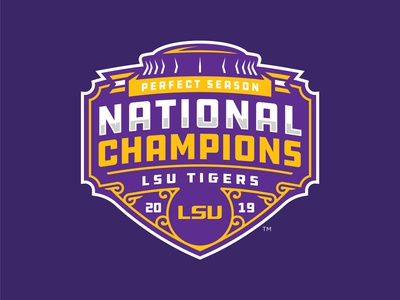 LSU TIGERS - 2019 NATIONAL CHAMPIONS - Logo Concept