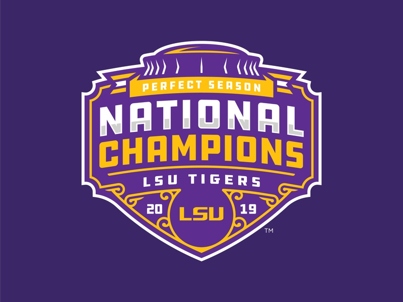 LSU TIGERS - 2019 NATIONAL CHAMPIONS - Logo Concept ncaa football college tigers lsu champions national 2020 2019