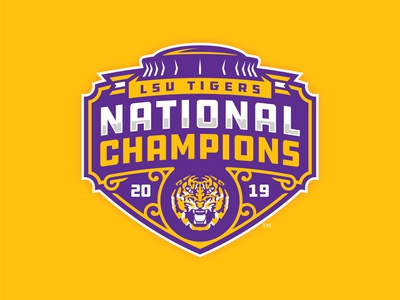 UPDATED: LSU TIGERS - 2019 NATIONAL CHAMPIONS - Logo Concept