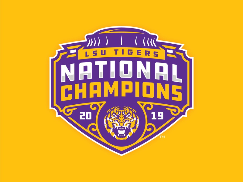 UPDATED: LSU TIGERS - 2019 NATIONAL CHAMPIONS - Logo Concept football ncaa 2020 2019 college football champions national tigers lsu