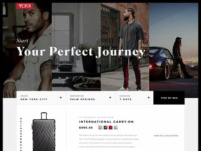 Tumi Hub ecommerce retail kravitz tumi ui duality wanderlust landingpage luggage travel