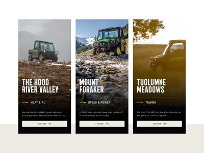 Location Previews mobile ui deere offroad utility vehicle roadtrip location gator