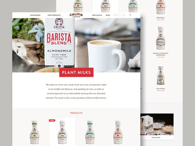 Califia Category Page web design responsive ux ui ecommerce almond milk califia