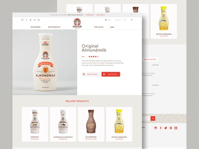 Califia Product Page califia almond milk ecommerce responsive ux ui