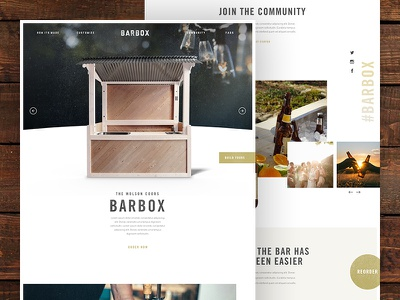 The Barbox ecommerce website webpage webdesign web ui simple landing