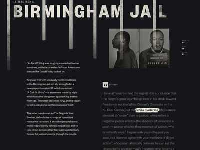 Birmingham after effects motion animation landing page web design martin luther king mlk50 mlk