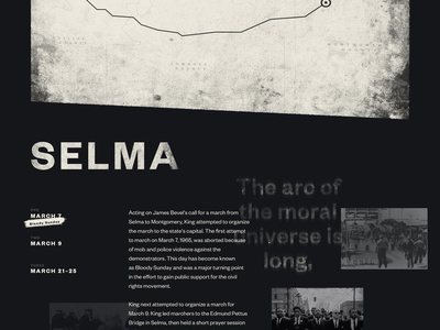 Selma after effects motion animation landing page web design martin luther king mlk50 mlk
