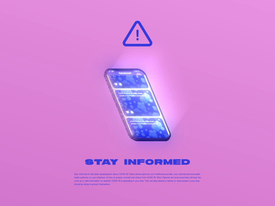 Stay Informed covid19 coronavirus phone scroll news illustration after effects animation motion design motion