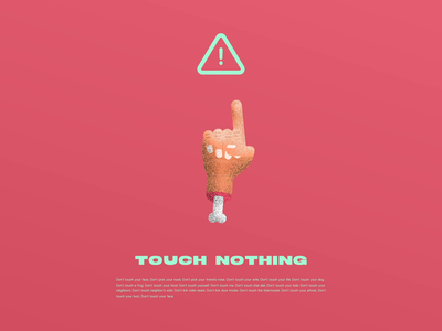 Touch Nothing covid19 coronavirus touch finger hands illustration after effects animation motion design motion