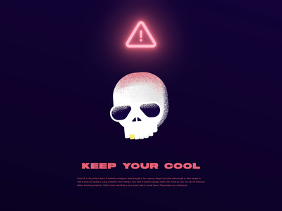 Keep Your Cool covid19 coronavirus skull illustration after effects animation motion design motion