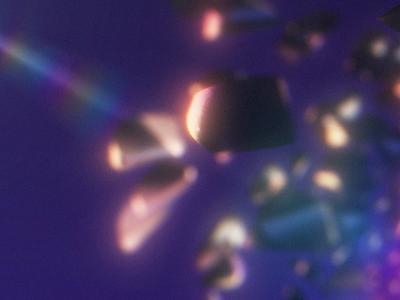 Verom   Shatter flare after effects motion design floating pieces metallic break shatter 3d