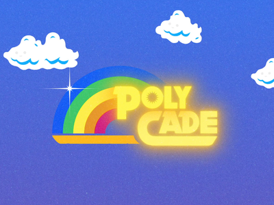 Polycade | Inspiration type logo after effects motion design logo animation crt television vintage retro reading rainbow