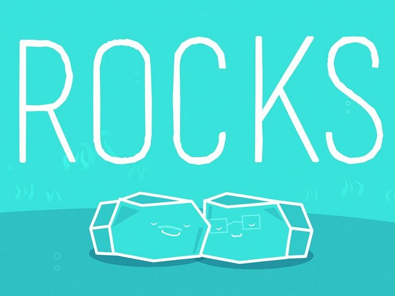 Rocks geology faces line solid geometric illustration teak rocks