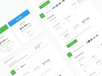 Payment Methods Mockup clean design dashboard vpn website payment method payment