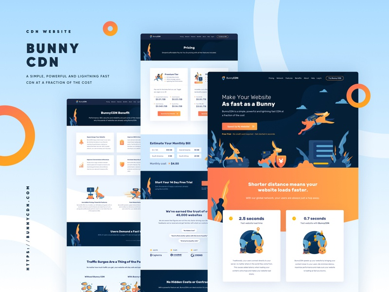 BunnyCDN Full Website Redesign web design redesign internet service vpn cdn vector dashboard illustration ux landing page landingpage