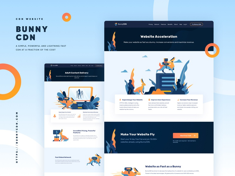 BunnyCDN Full Website Redesign - Inner Page bunnycdn internet service cdn vpn user interface design web desgin ux ui illustration dashboard landing page landingpage