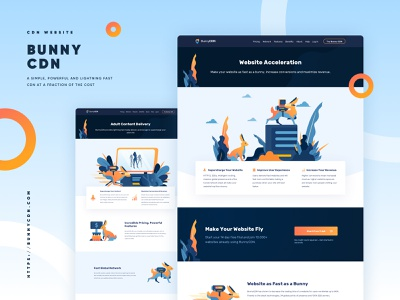 BunnyCDN Full Website Redesign - Inner Page bunnycdn internet service cdn vpn user interface design web desgin ux ui illustration dashboard landing page landingpage