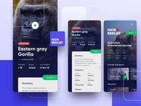 UICN Redlist - Animal Conservation App landingpage dashboard ux mobile ui mobile app appdesign ios charity donate conservation animal