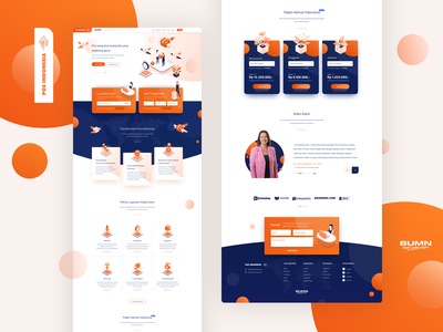 Pos Indonesia Landing Page - Exploration container shipping company transporter orange isometric package shipping pos indonesia landing page dashboard landingpage