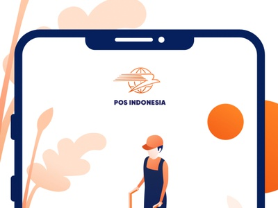 POS Indonesia Onboarding Screen isometric illustration illustration redesign concept landingpage mobile app ui mobile ui shipping company shipping pos indonesia onboarding