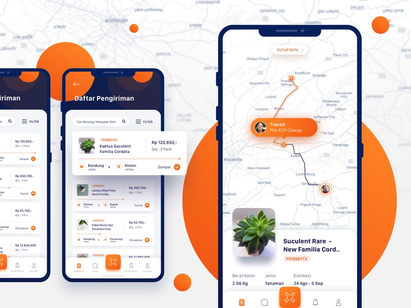 POS Indonesia Apps Exploration indonesia pos indonesia pos ios apps design apps screen orange shipping company shipping shipment logo ux dashboard