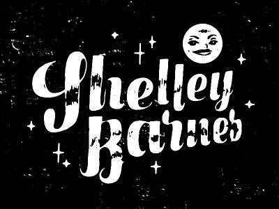 Shelley Barnes – Blue Moon illustration typography moon stars black white