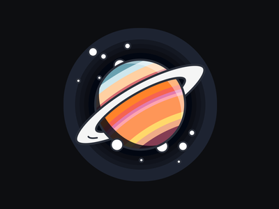 Saturn nasa astronomy astro saturn planet space dark illustration icons icon