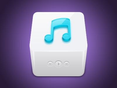 Instinctiv App icon icons gui pixel music media cube pedja rusic