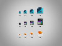 Stock set icons - sizes